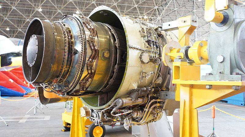 TFE731 engine inspection.